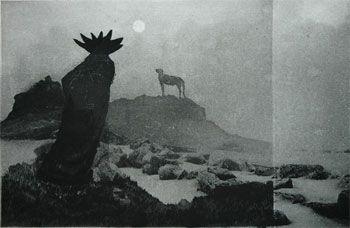 Taiteilija Heiskanen Outi ja Laine Janne Teos Kalpea kuu, 2007 Tekniikka akvatinta, kuivaneula, heliogravyyri, etsaus Kuvan koko 25 x 38 cm Vedossarja 45 400€