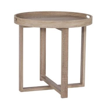 $300 coco & creme Round Tray Side Table | Furniture