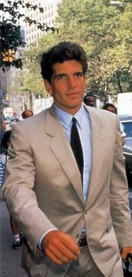 Dapper John on his way to work during his days as an attorney.