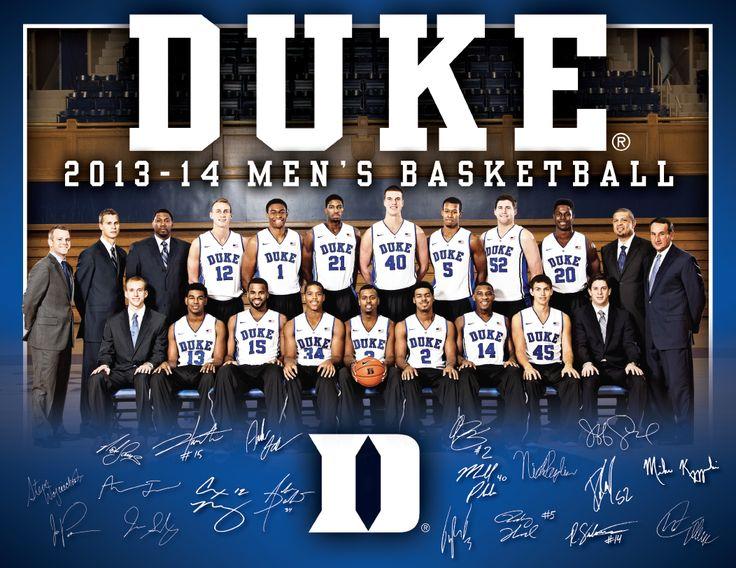 Duke 2013 Men's Basketball Roster Card