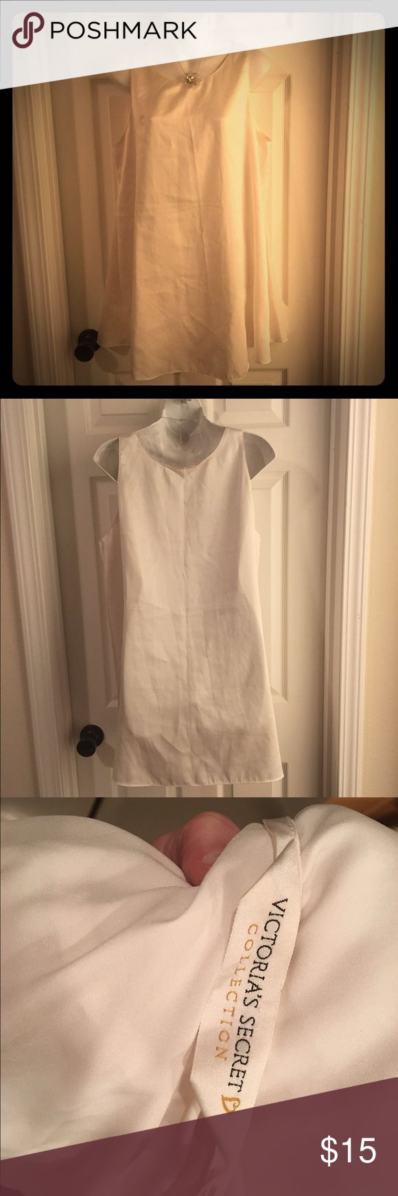 """Victoria's Secret Simple Satin Chemise Nightie VS A simple VS Collection Satin Chemise/Nightie/Gown in an antique white. Size Large. Measures 22"""" pit-to-pit and 32"""" long. 100% polyester satin. Excellent condition. Victoria's Secret Intimates & Sleepwear Chemises & Slips"""