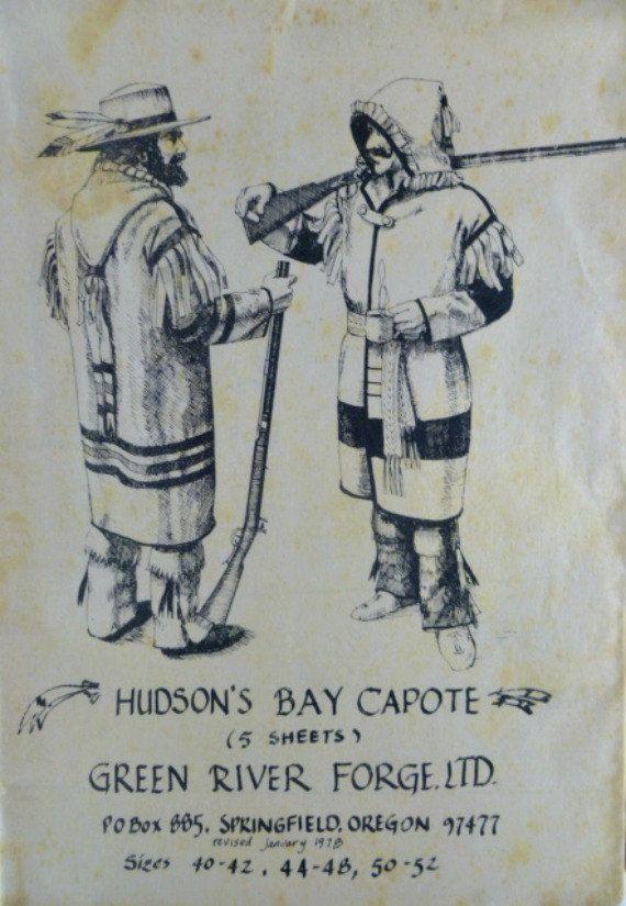 Vintage 70s Hudson Bay Capote Blanket Coat by VintageNeedleFinds,