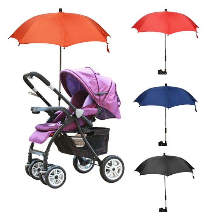 1 Pc High Quality Colorful Baby Stroller Umbrella Kids Children Pram Shade Holder Mount For Sun Shade Baby Stroller Accessories