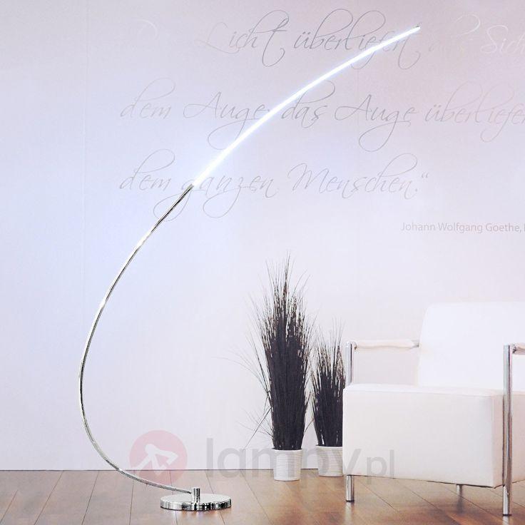 Lampa stojąca CHROMO w kształcie łuku z LED 6002673