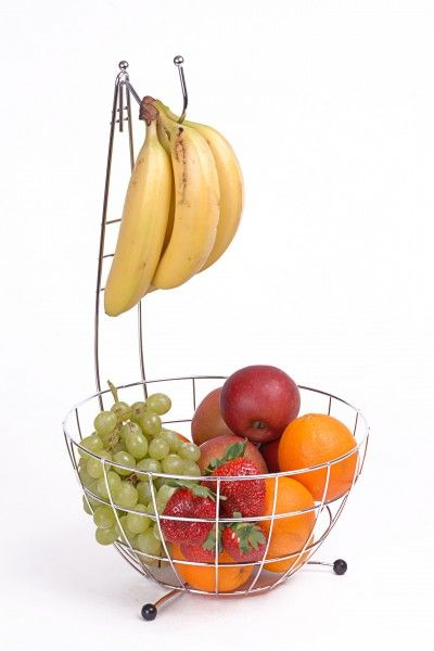 Obst Korb Bananen Baum Obst Schale Bananenhalter Metall | eBay