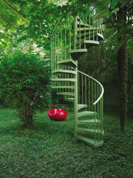 Technopolymer Spiral staircase TECHNE - Fontanot - Albini & Fontanot @fontanotstairs