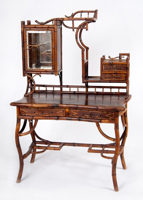 Vintage French bamboo vanity with rosewood veneer top - 257 Best Antique Chinese Bamboo Furniture Images By Vern Rowe On