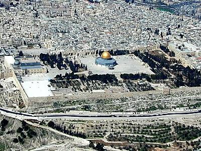 Temple Mount, Israel ~ You can see the Temple from miles away, amazing.