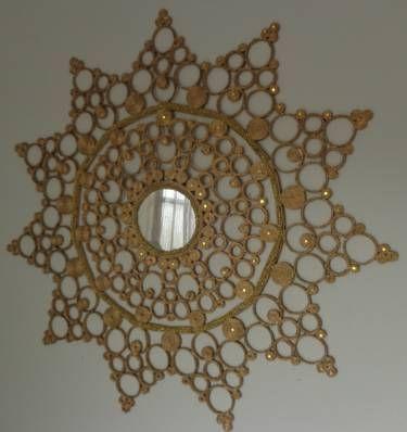 mandala de jornal - decoração artesanato