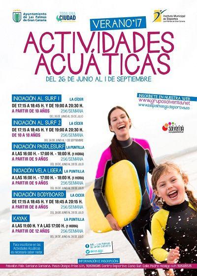 actividades acuaticas las palmas de gran canaria 2017