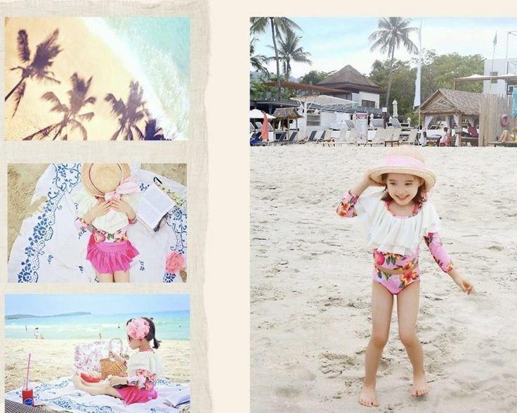 Cute and fashionable swimsuit set - Aloha