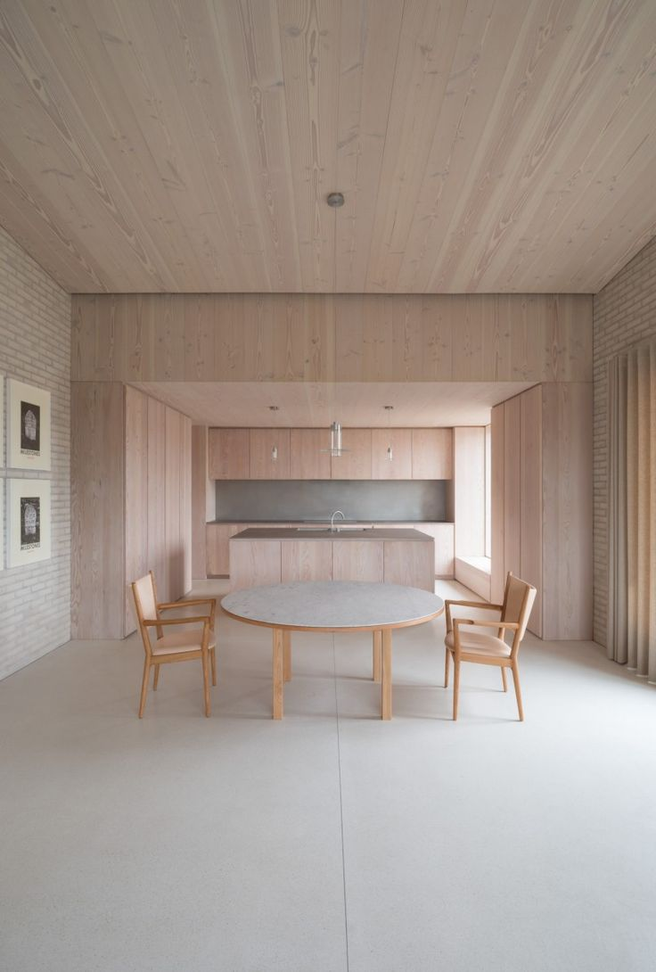Evelyne home interiors interior and exterior decoration velas - House With Wooden Walks And Soft Colours By John Pawson Interior Minimalism By Leuchtend Grau
