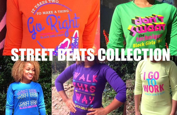 Boogie down on the pavement with Black Girls RUN! Street Beats Collection.  store.blackgirlsrun.com