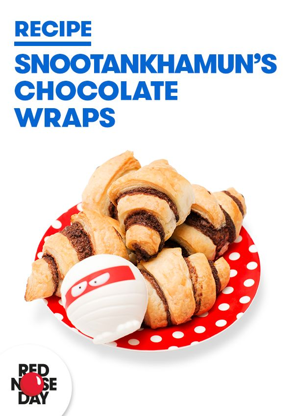 Snootankhamun's mummy's favourite recipe (geddit?) All you need is some ready made pastry and chocolate spread. Simple.