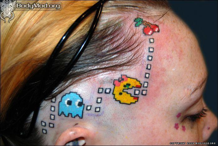 why????Scalp Tattoo, Tattoo Fail, Pacman Tattoo, Pac Man, Pacman Head, Head Tattoo, Videos Games Tattoo, A Tattoo, People