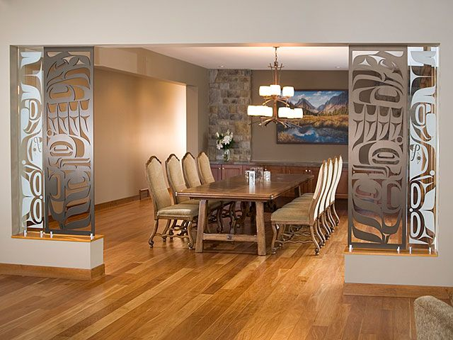 Commissions - Partition Screens - Eagle & Whale - Sabina Hill