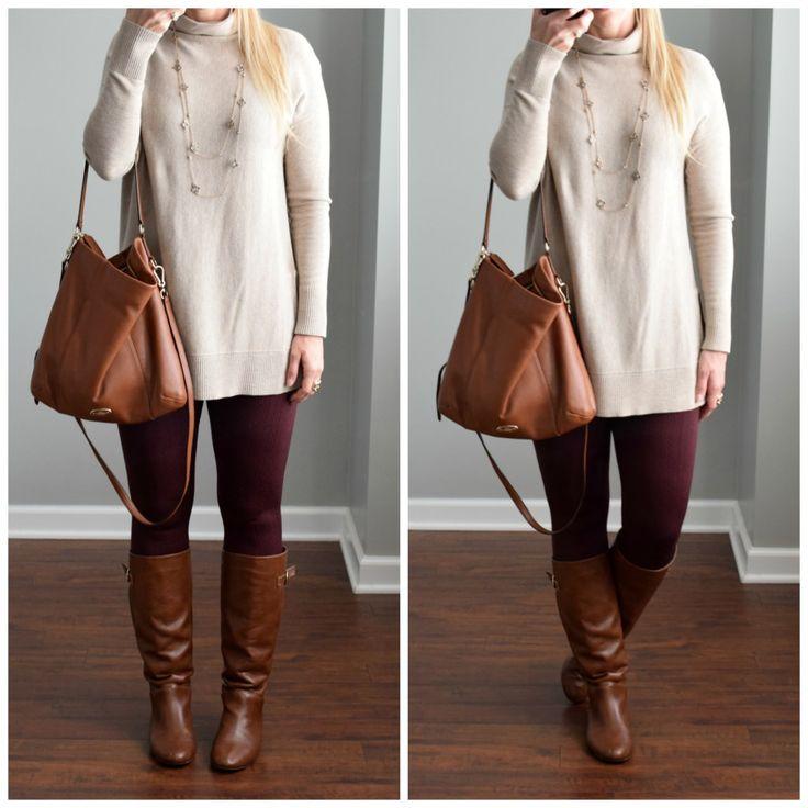cozy tunic and fleece-lined leggings |www.pearlsandsportsbras.com|