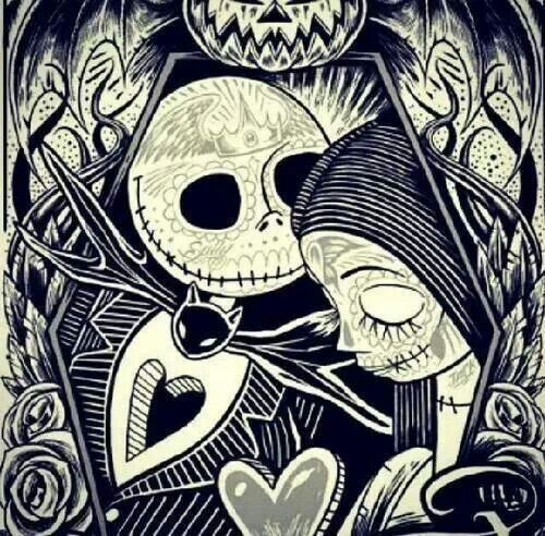 Day of the Dead meets Nightmare Before Christmas