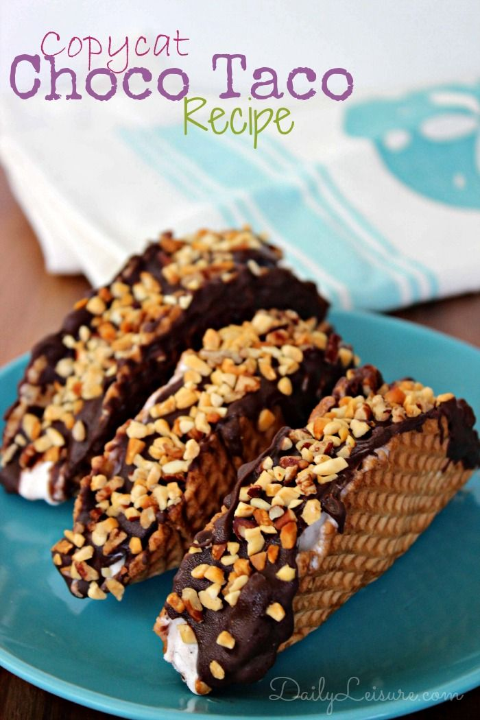 Copycat Choco Tacos--  just like the frozen 'Drumsticks' that we all know and love! All you need is packaged waffle bowls, ice cream, melted chocolate, and crushed peanuts.