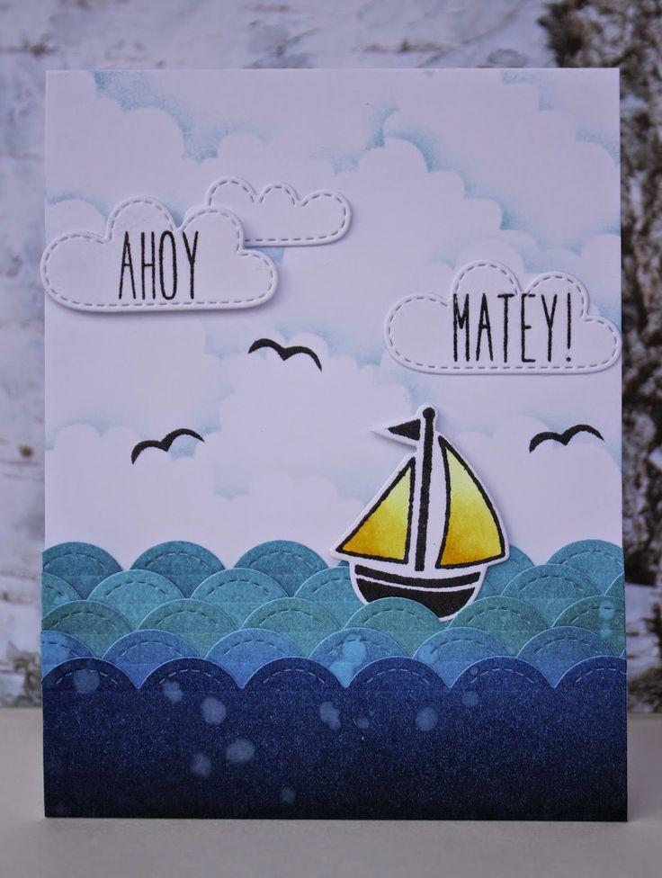 the Lawn Fawn blog: Lawn Fawn Video {4.22.14} A nautical themed card