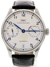 Men's IWC Portuguese 7 Day Power Reserve Automatic SS IW5001-07