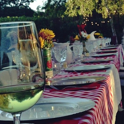 Italian Outdoor Dinner Party - Reluctant Entertainer