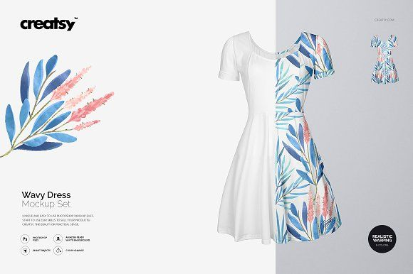 Wavy Dress Mockup Set Mockup Free Psd Mockup Graphic Design Studios