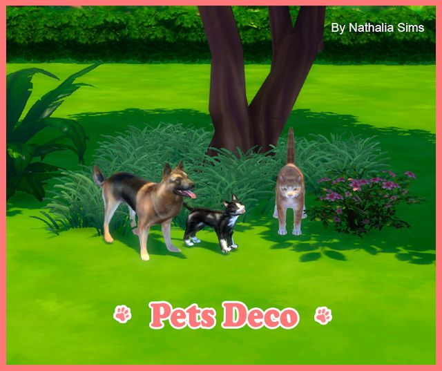 Pets Deco at Nathalia Sims via Sims 4 Updates