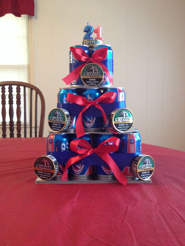 Beer Can Cake for 21st Birthday!