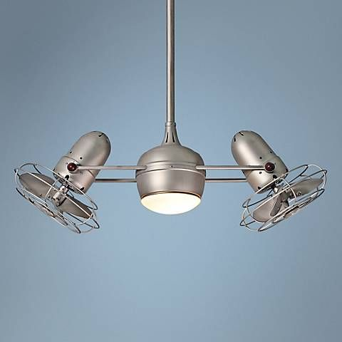 "39"" Matthews Dagny Brushed Nickel Lighted Dual Ceiling Fan"