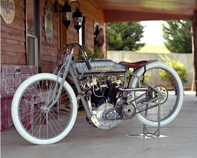 Classic Motorcycle Photograph - Harley Davidson 8 Valve Racer. $29.95, via Etsy.