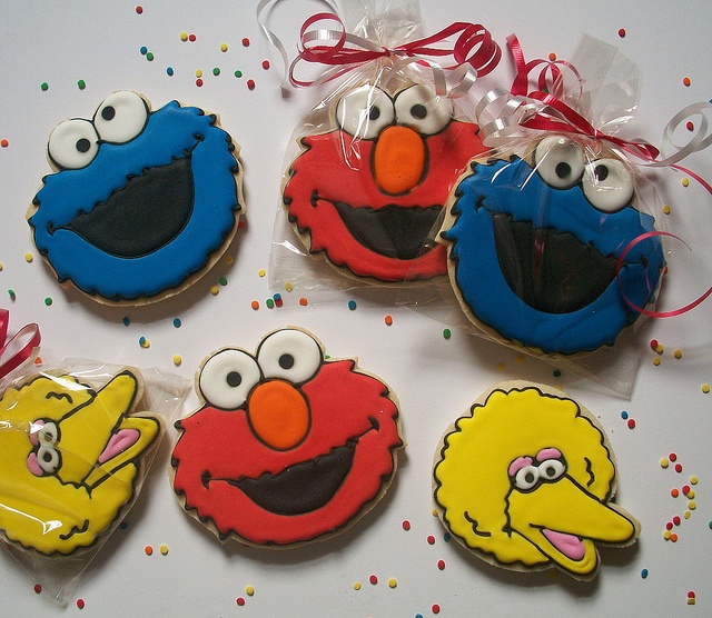 Sesame Street Cookies Cookie Decorating Cartoon