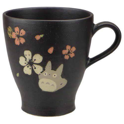 Mug Cup - 260cc - Porcelain - Mino Yaki - made in Japan - Totoro & Sakura - Ghibli - 2015 (new)
