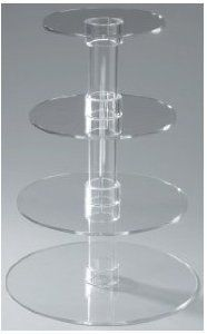 Amazon.com: Utenlid® 4-Tier Stacked Party Cupcake and Dessert Tower - Clear Acrylic Cake Stand: Kitchen & Dining