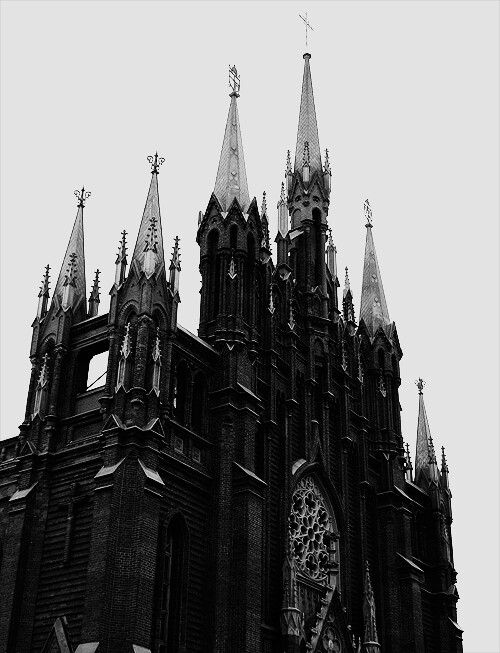 Lovely Gothic cathedral.  Mm, the windows... #gothic #fashion #images I would love a print of this on a t-shirt