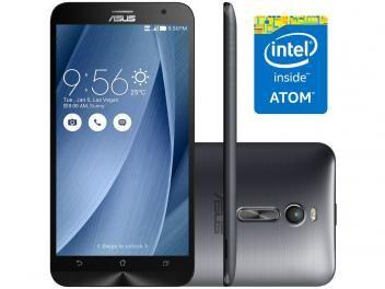 """Smartphone Asus ZenFone 2 32GB Prata Dual Chip 4G - Câm. 13MP + Selfie 5MP Tela 5.5"""" Full HD Quad Core"""