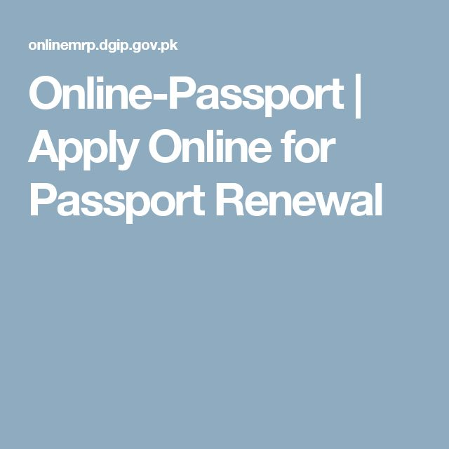 Online-Passport | Apply Online for Passport Renewal