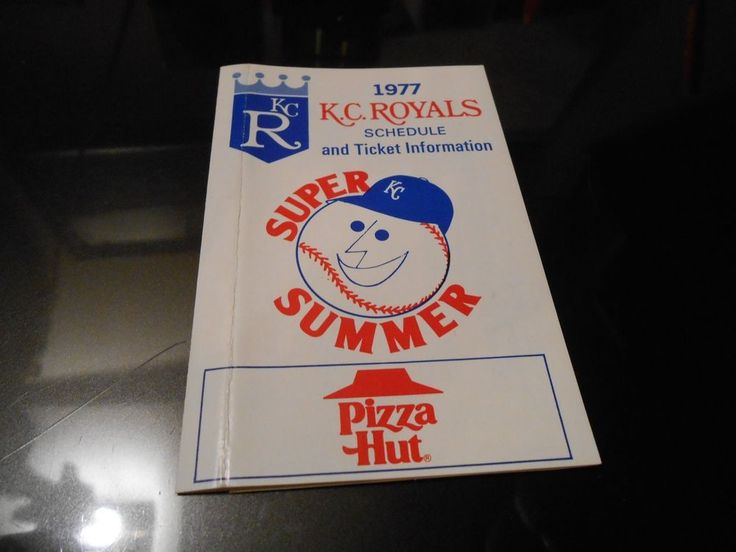 #vintage  1977 kansas city royals baseball schedule  pizza hut . from $1.25