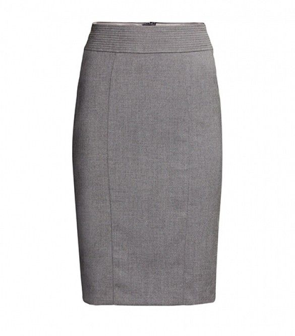 Back To Basics: The 14 Timeless Pieces You Shouldn't Live Without via @WhoWhatWear Basic grey (gray?) pencil skirt