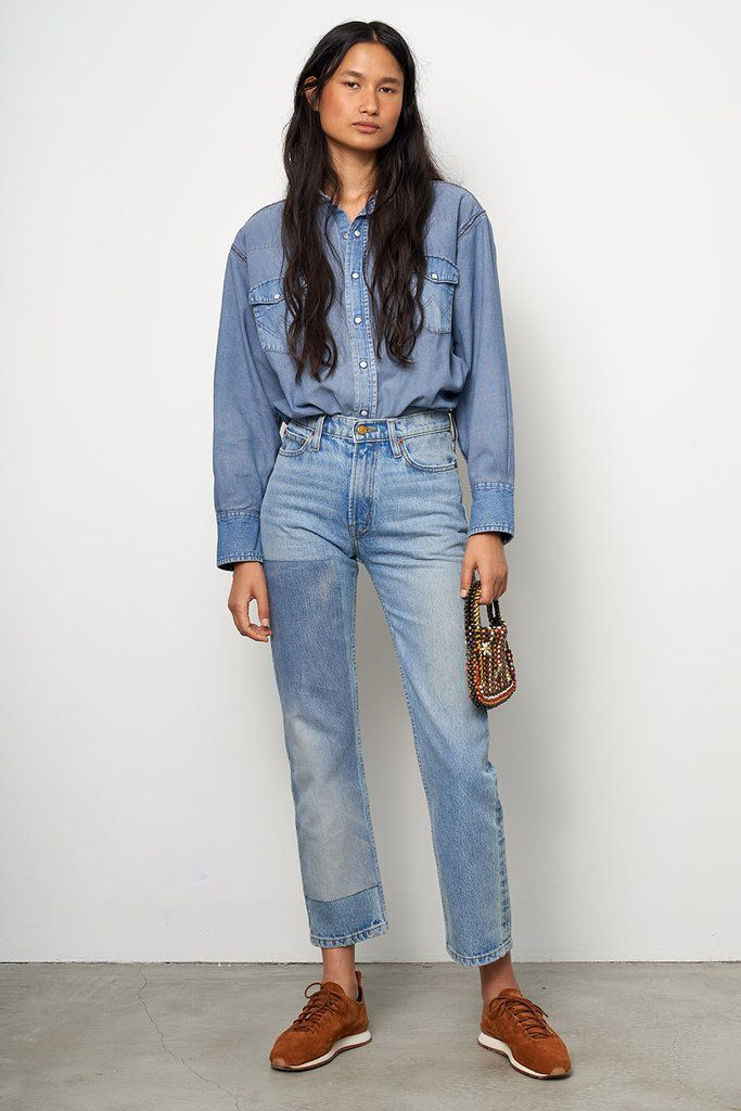 Arts Straight Rigid Jean Hannah Patchwork No 1 Women B Sides Jeans Fashion Fashion Inspo Straight Jeans