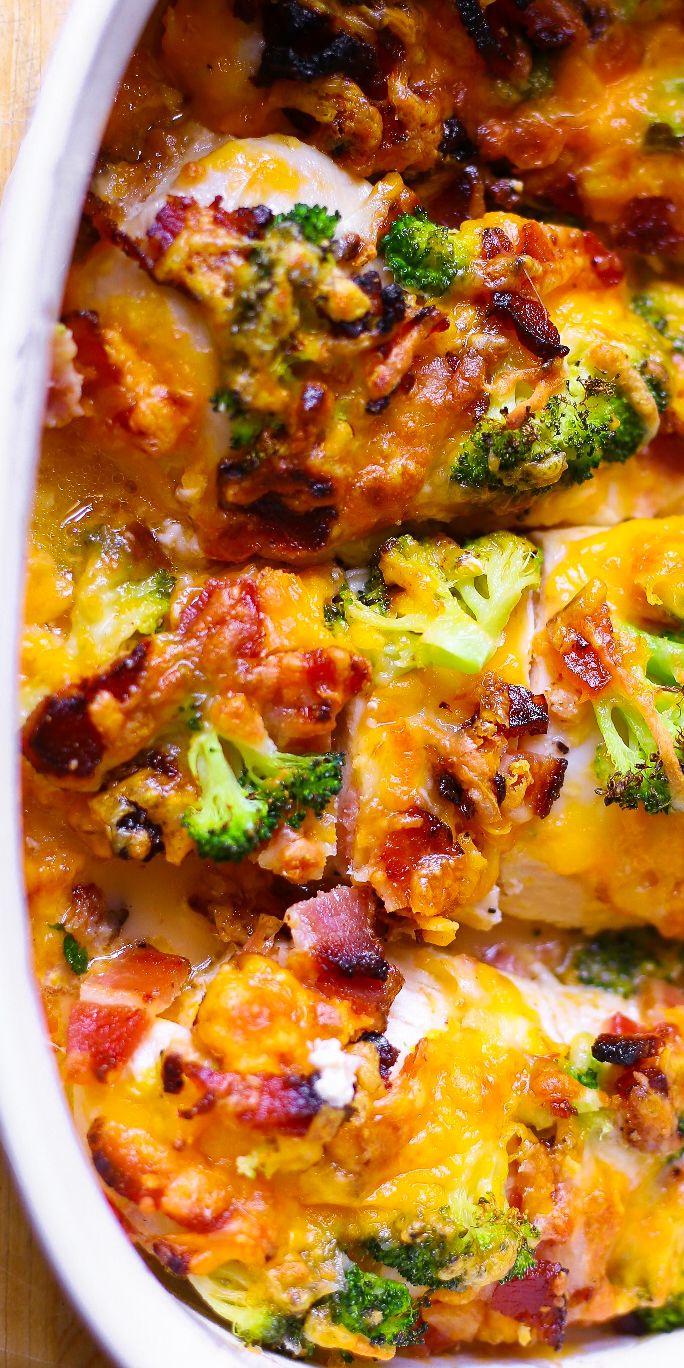 Broccoli Bacon Cheddar Chicken Easy Chicken Recipes Free Chicken Recipes Chicken Recipes