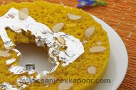 Ghevar: This Rajasthani filigreed delicacy is usually prepared during Teej and Rakhi festivals. The elaborate processes in preparing it may seem daunting, but if you persevere you will be rewarded with a lacy creation that will fill your guests with awe.