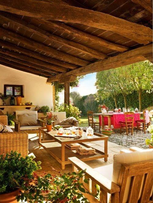 44 best patio roof designs images on pinterest patio design patio ideas and patio roof - Porches de casas de campo ...