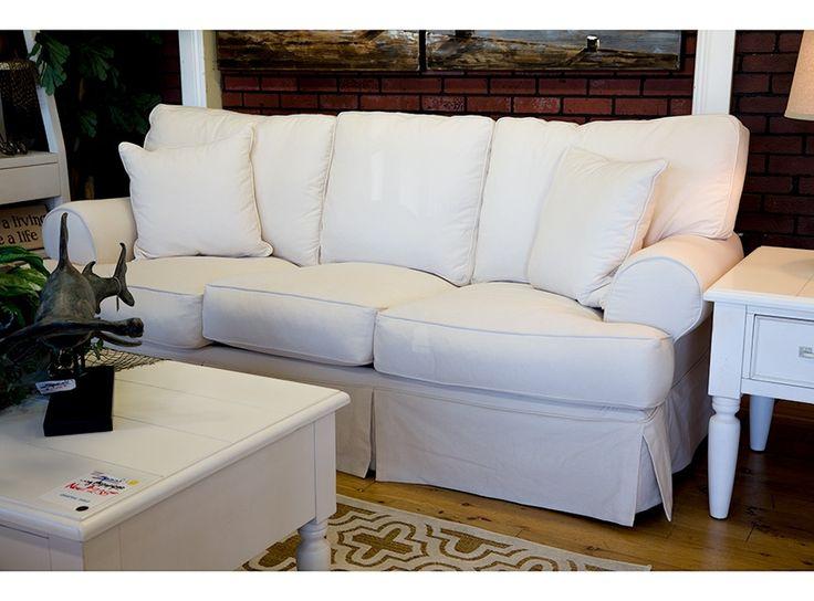 Synergy 66901 classic slip cover sofa slipcovered sofa