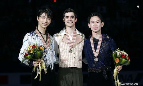 Spain's Fernandez grabs first gold at worlds while Russia's Tuktamysheva wins ladies - Global Times