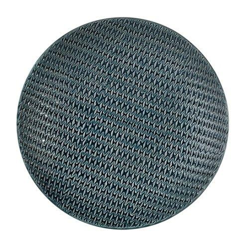 De Keramieken Schalen zijn gemaakt van geglazuurd keramiek in grijs/blauw of grijs/bruin.  Afmetingen: Ø 48.5 x h 7 cm.
