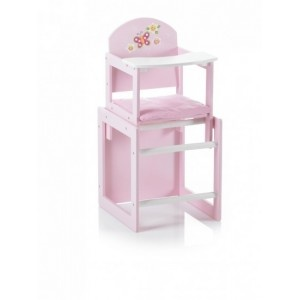 Leuke #poppenstoel in Vlinder design. Je kan deze mooi poppenstoel ook gebruiken als 2 losse delen, stoelje en tafel apart.   Afmetingen compleet: ca. 28 x 26 x 55 cm (lxbxh)  Afmeting tafeldeel: ca. 29 x 27 x 29 cm (lxbxh)  Wordt geleverd incl. zitkussentje.  Geschikt voor poppen van max. 50 cm  Leeftijd: vanaf 3+. #speelgoed