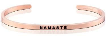 """Armband """"Namaste"""" i rosé"""