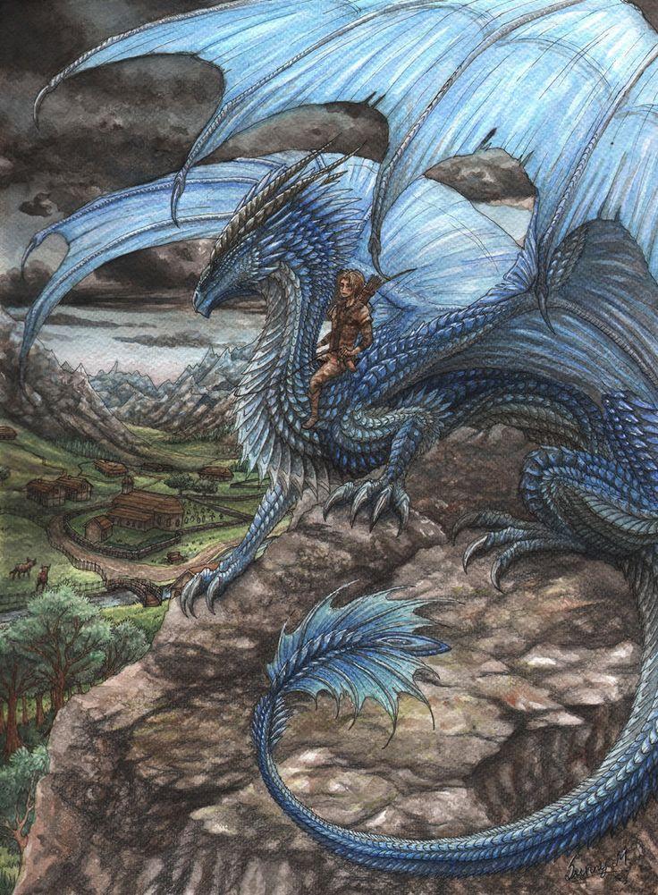 Sapphira and Eragon by Sunima on deviantART