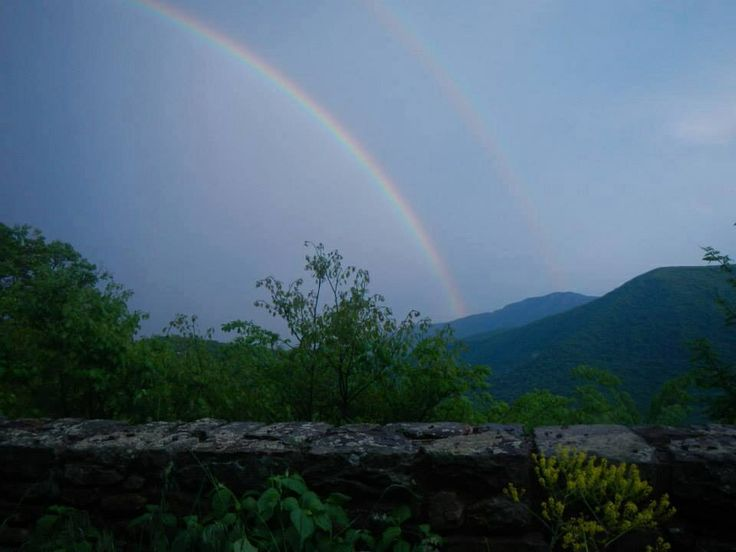 Double rainbow over skyline drive